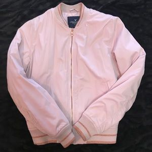 Rose pink bomber! Super cute for fall and spring🌸